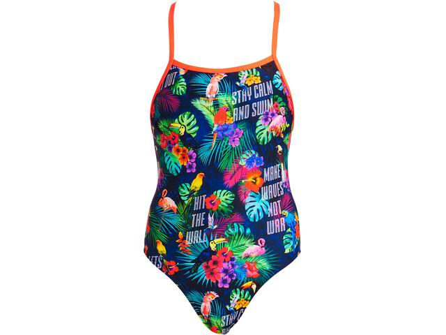 Funkita Tie Me Tight One Piece Swimsuit Dam tropic tag